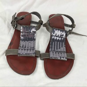 MOSSIMO gladiator glitter sequence sandals